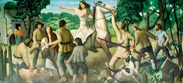 Depiction of the events of the Big Runaway