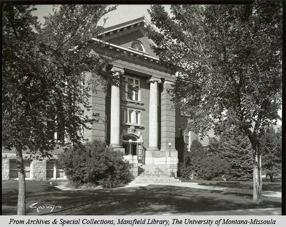 Image of University of Montana Former Law School (1923-1960)