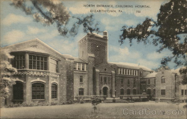 The north entrance of the Etown Children's Hospital (cir. 1940s)