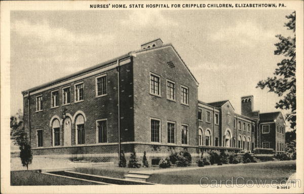 Nurse's station at Etown Children's Hospital (cir. 1940s)