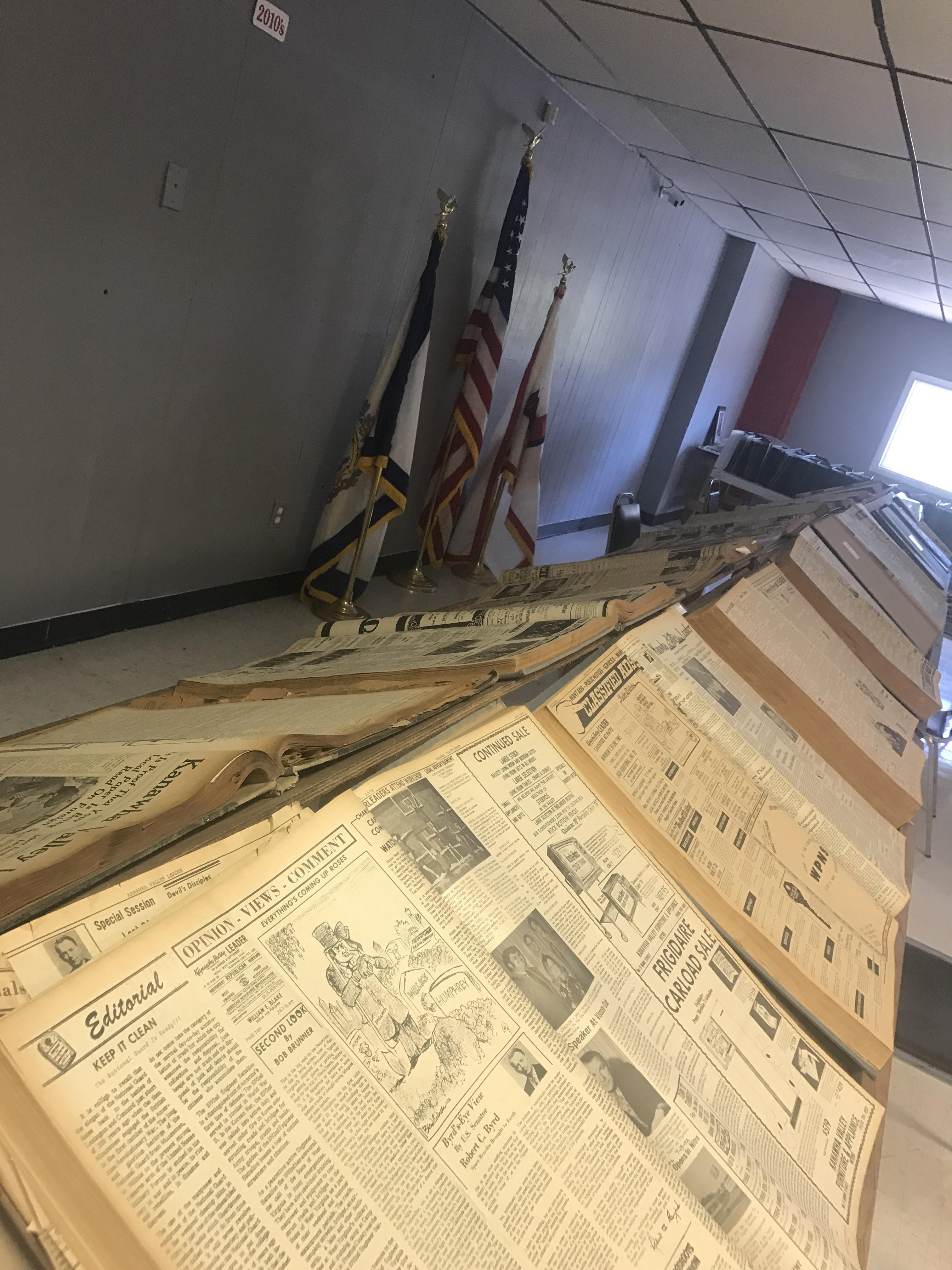 Local newspaper collection