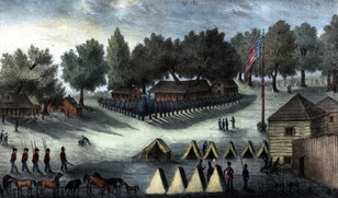 The fort held numerous troops during the Second and Third Seminole War. This image of the fort from about 1840 demonstrates how it grew during that period.