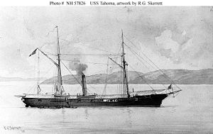 USS Tahoma, the other UNion ship to bombard Fort Brooke