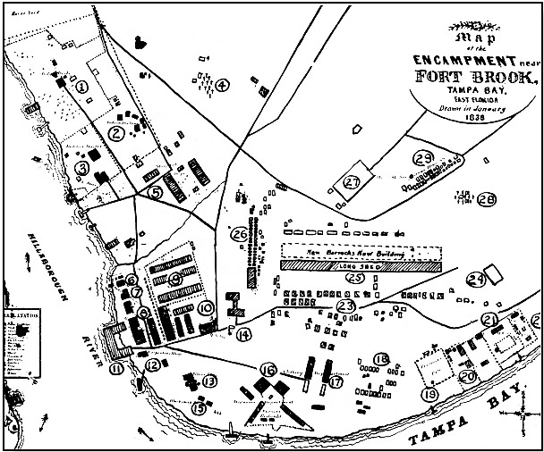 1838 map of the fort