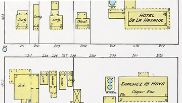 This 1889 map of 7th Ave. shows the location of the hotel as well as how the avenue appeared while the hotel was in operation.