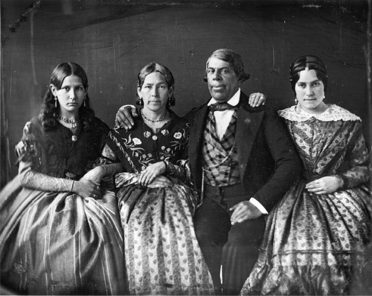 Governor Pio Pico and his family. Pico recognized the influx of Americans into California as a commercial opportunity, and sold much of the territory's public lands to his family and friends. They made a fortune in the coming decades.
