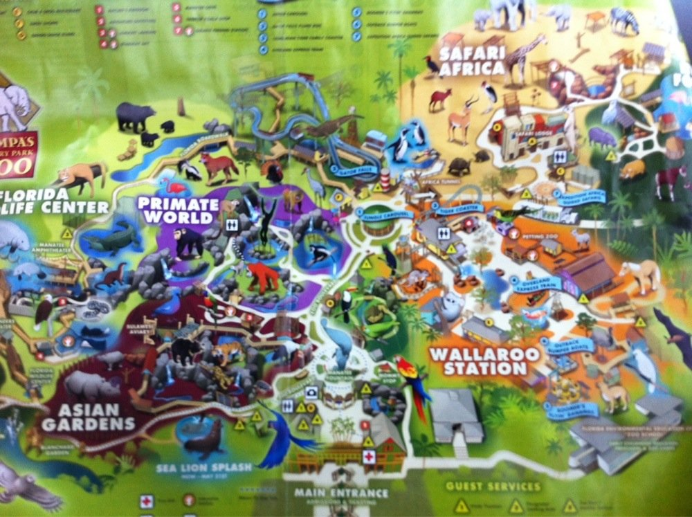 Map of the zoo
