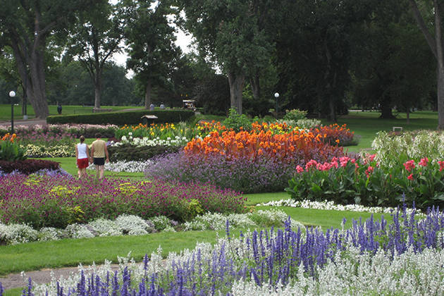 Washington Park gardens (image from the City of Denver)