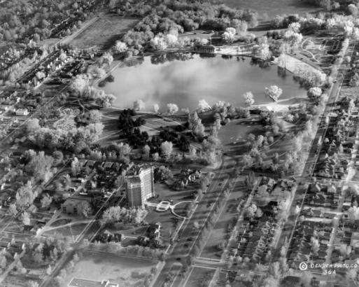 Aerial view of Smith Lake (image from Denver Public Library)