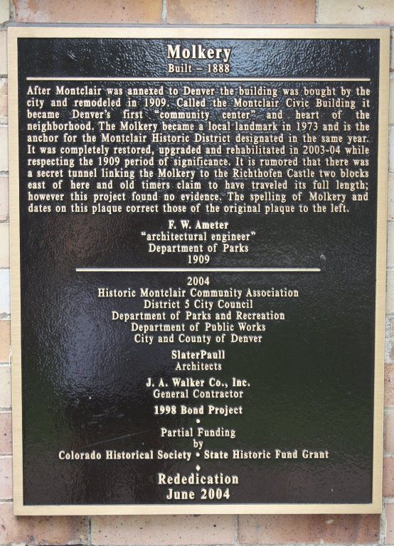 The Molkery historic marker (image from the University of Colorado)