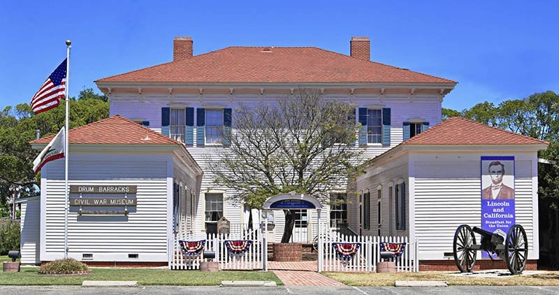 The Museum is housed in the junior officers' quarters, the only surviving building from Camp Drum in the Civil War. Image obtained from HistoryNet.