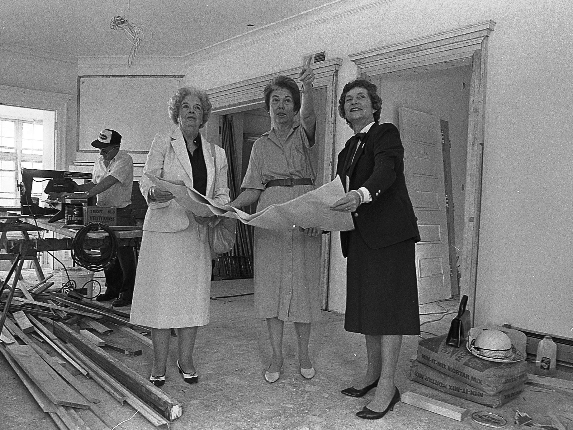 During renovation of the Cooley-Haze home in the early 1980s