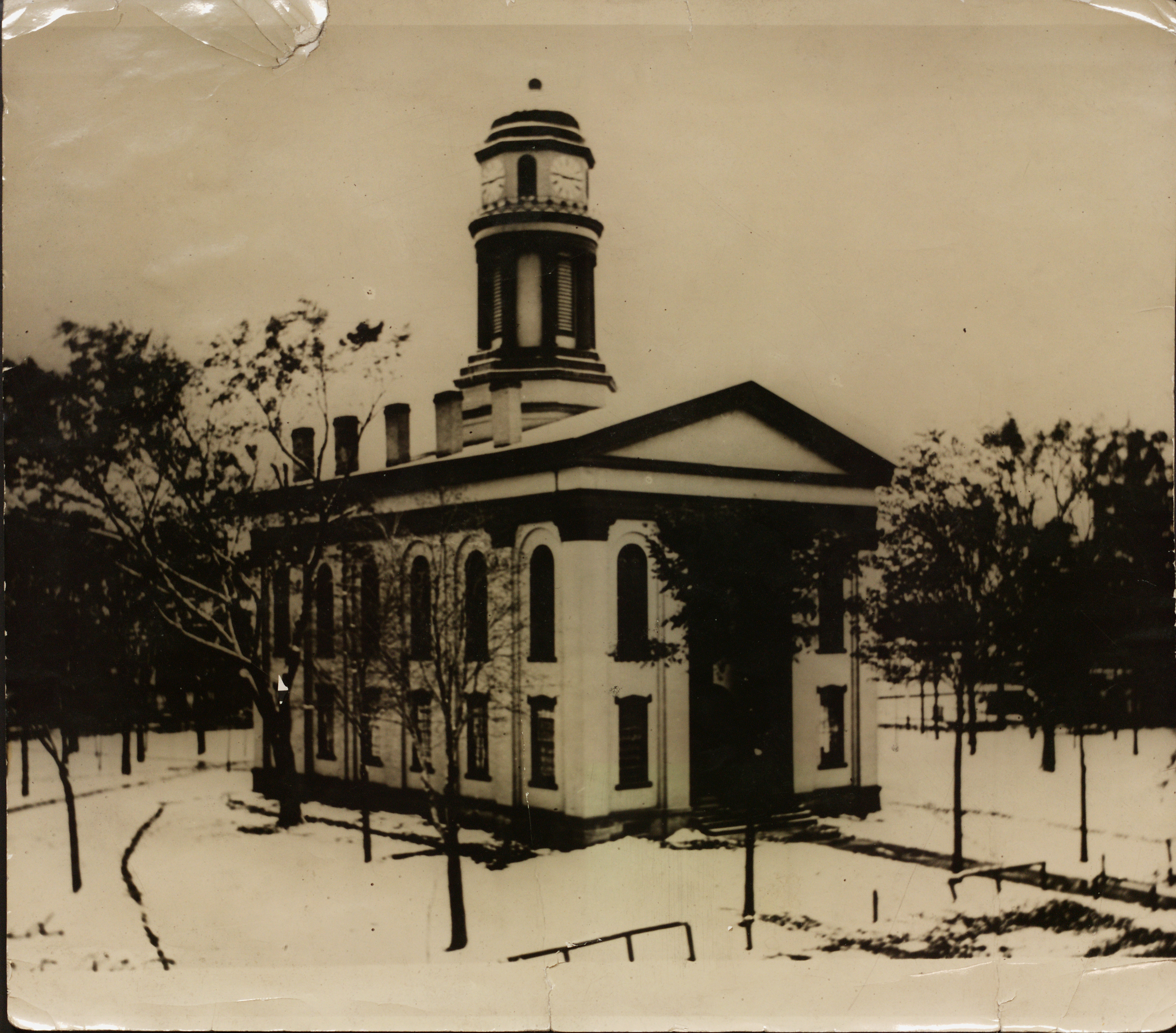 The second Trumbull County Courthouse was built in 1854.