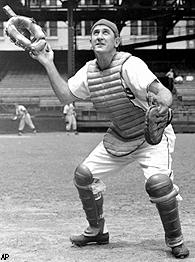 Al Lopez when he was catcher for the Cleveland Indians in 1946