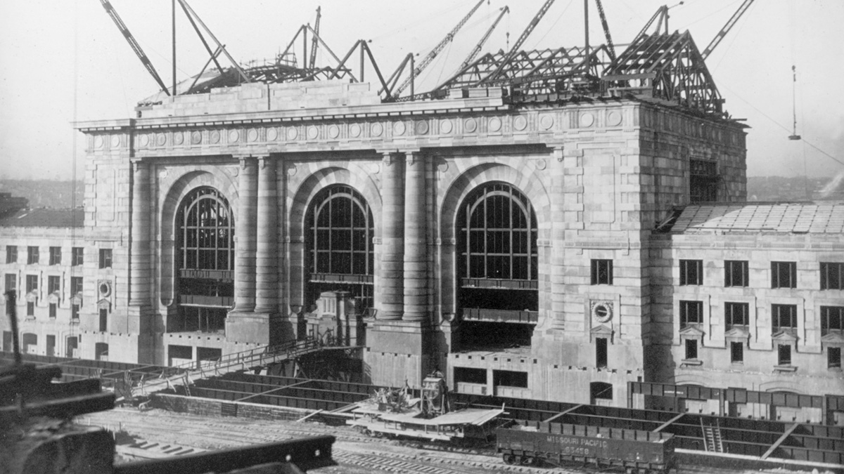 Construction of the Union Station