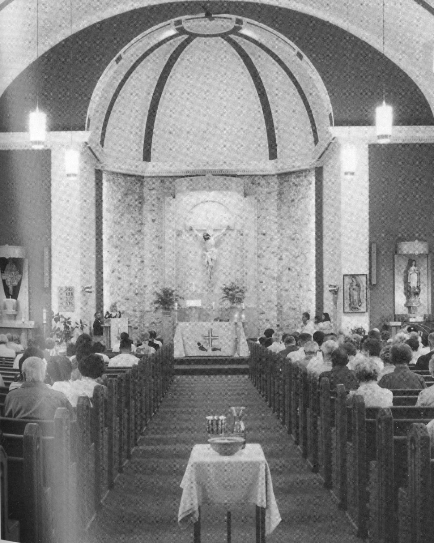 Interior of St. Louis Church, 1995.