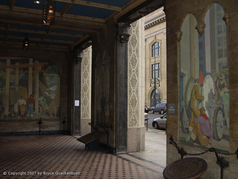 One of the building's lobbies (image from Alan Tupper True, American Artist)