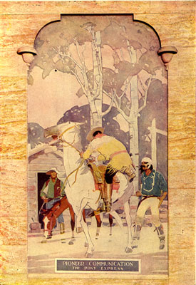 A mural in the Curtis Street Lobby (image from Telecom History)