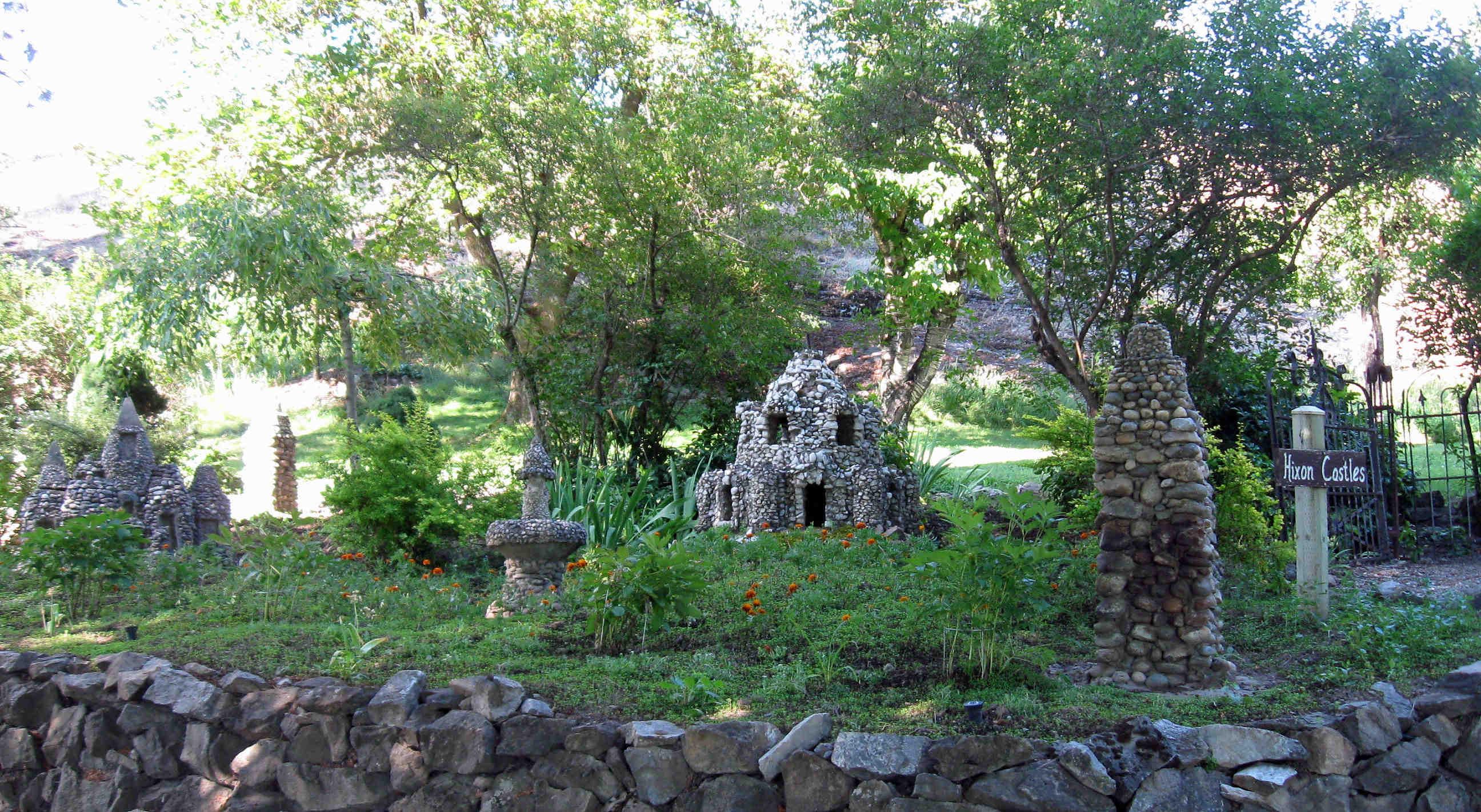 Hixson castles and garden near the Keller House