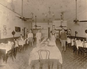 1920 photo the Columbia Dining Room