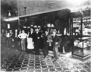 The Columbia in 1905 after it opened originally as a corner cafe