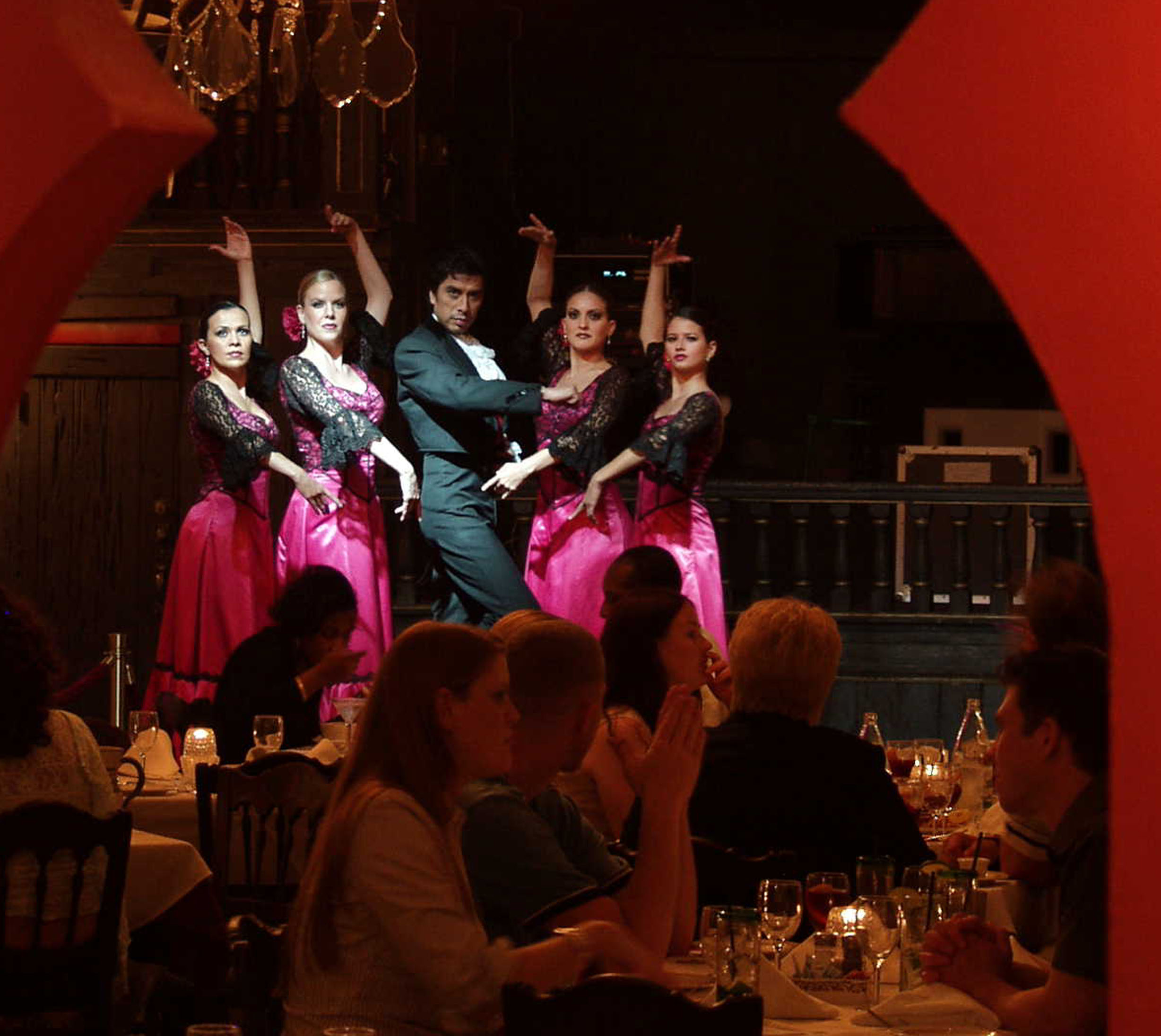 Flamenco dancers perform at the museum