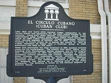 Cuban Club historical marker