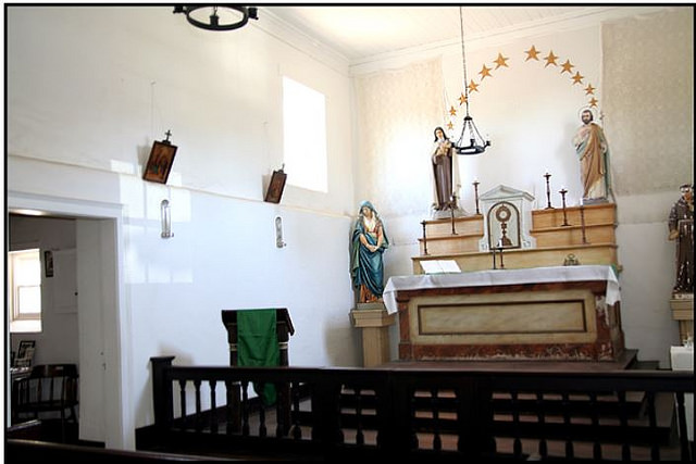 Altar in Old Adobe Chapel
