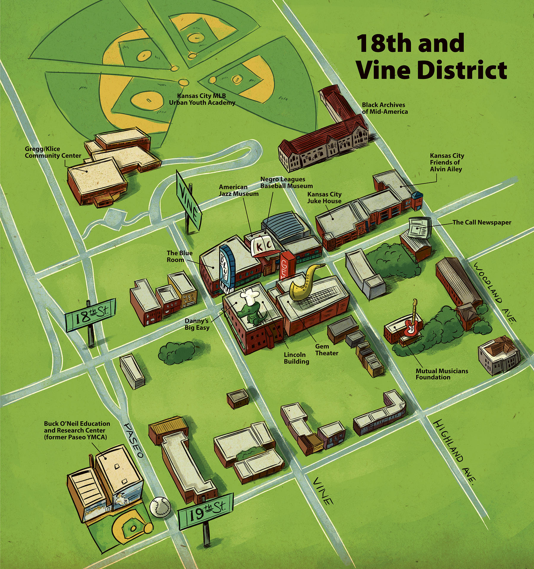 Map of 18th & Vine. Credit Neil Nakahodo for KCUR