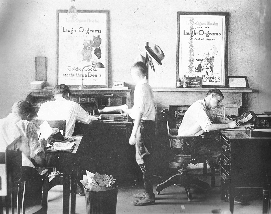 Animators working at the Studio.