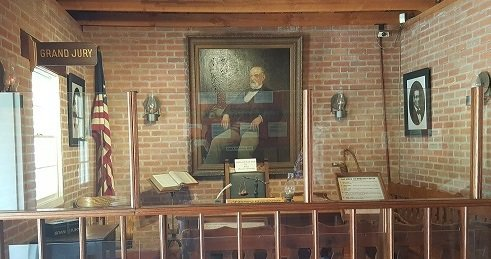 Recreated interior of the courthouse, photo courtesy of trip101.com