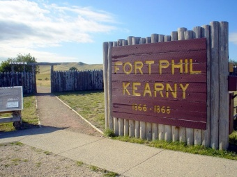 This sign serves as a reminder of the fort that was located here.