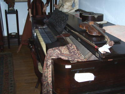 One of the main attractions, Elizabeth's piano. Courtesy of Bob Hurr