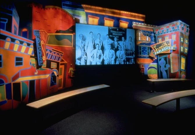 Interactive Exhibits in the Jazz Museum illustrating life in KCMO in the 1920s