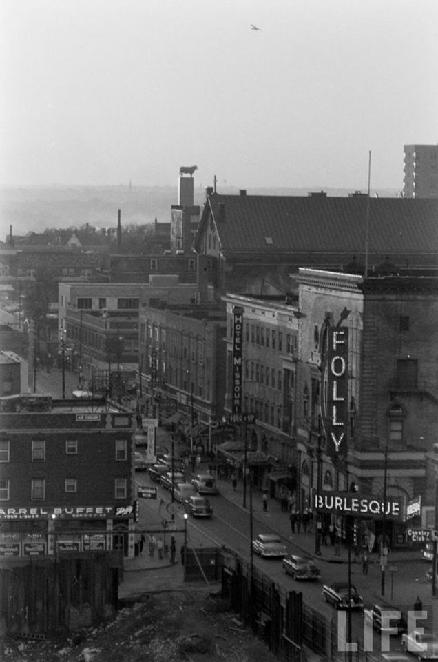 Folly Theater in 1954