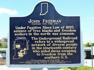 John Freeman Historic Marker - Side 2 (image from Historical Marker Database)