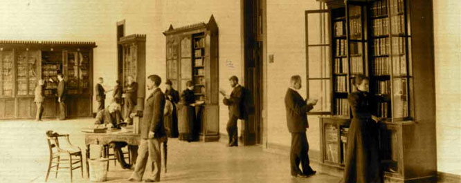 Historic image at the Indiana School for the Deaf (image from the Indiana Deaf Heritage Museum)