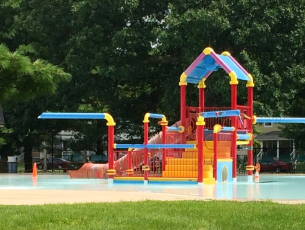 At Brookside Park's pool (image from Historic Indianapolis)