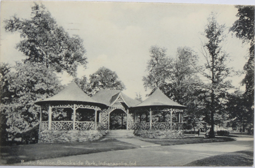 Brookside pavilion, 1911 (image from Historic Indianapolis)