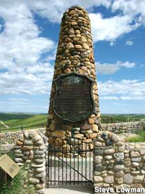 The Fetterman Monument is three miles give or take from Fort Phil Kearney.