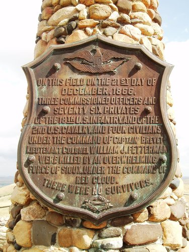 Fetterman Monument is located off of Piney Creek Road Banner, WY
