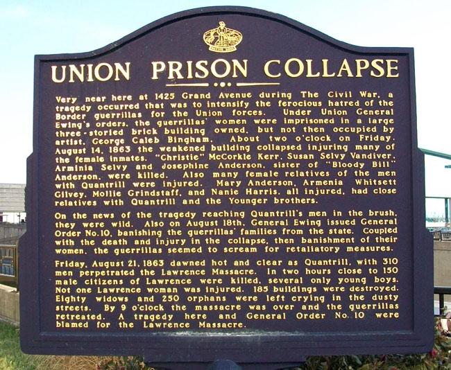 Union Prison Collapse Marker
