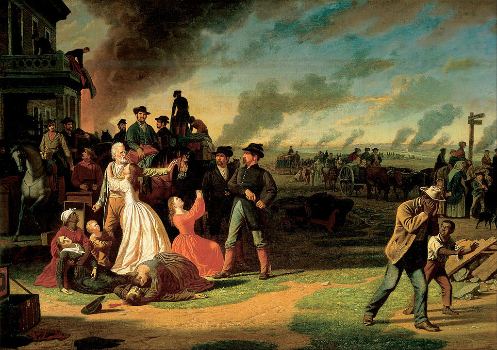 George Caleb Bingham painting of General Order No. 11, an order occuring after the Lawrence massacre