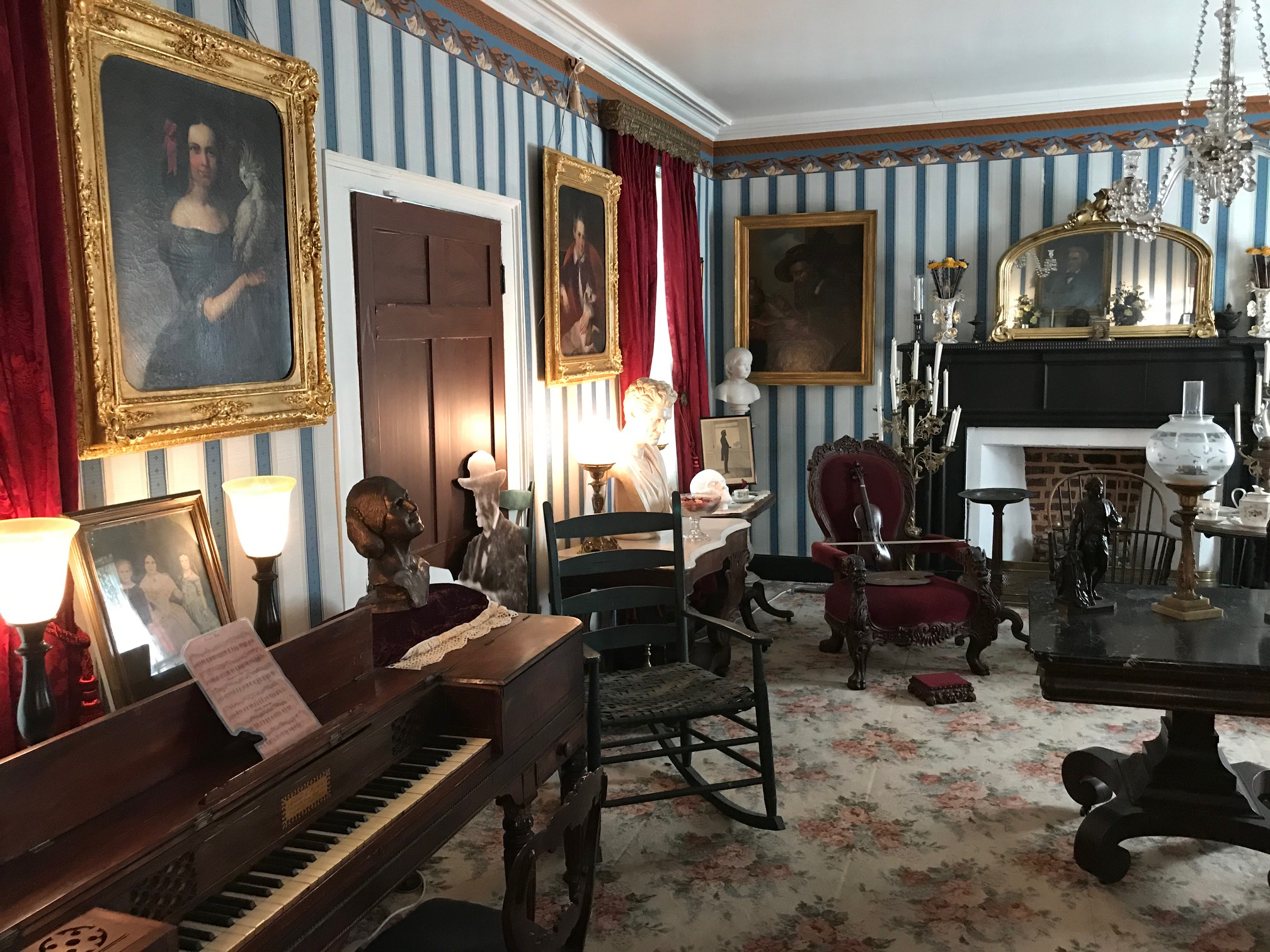Floride Calhoun's pianoforte and Thomas Clemson's rocking chair