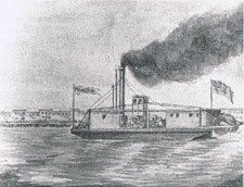 This is a drawing of what the Prometheus looked like back in 1818. Unfortunately, no pictures could be found of the first steamboat of North Carolina but this drawing provides an accurate description of the vessel in its entirety.