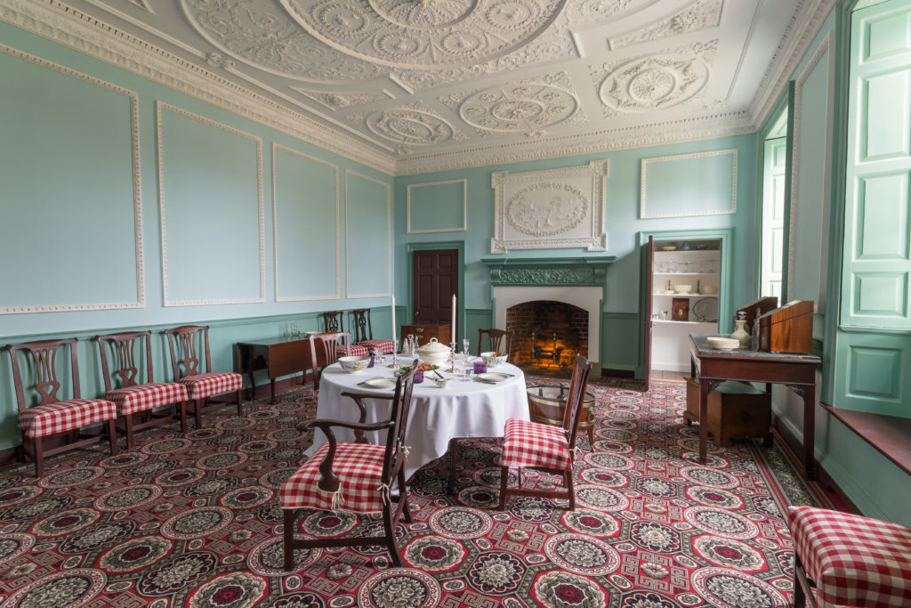 The dining room on Kenmore's first floor