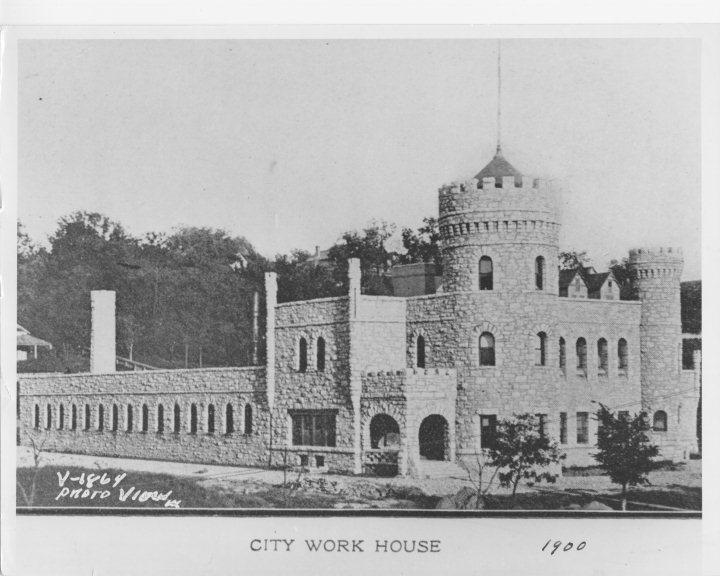 City Work House, Frontal and Side View. 1900