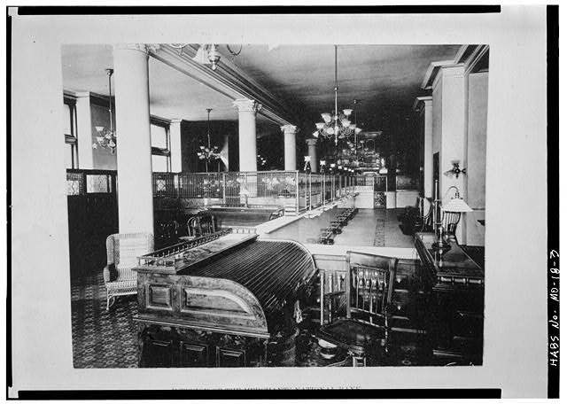 Interior of the New York Life Insurance Building, 1890. Credit to the Library of Congress Prints and Photographs Division.
