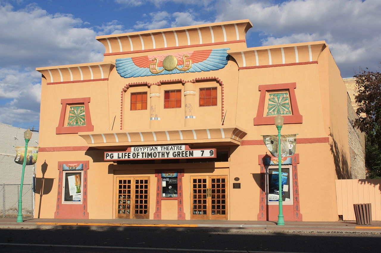 Architect Montana Fallis designed this theater as well as Denver's famous Mayan Theatre.