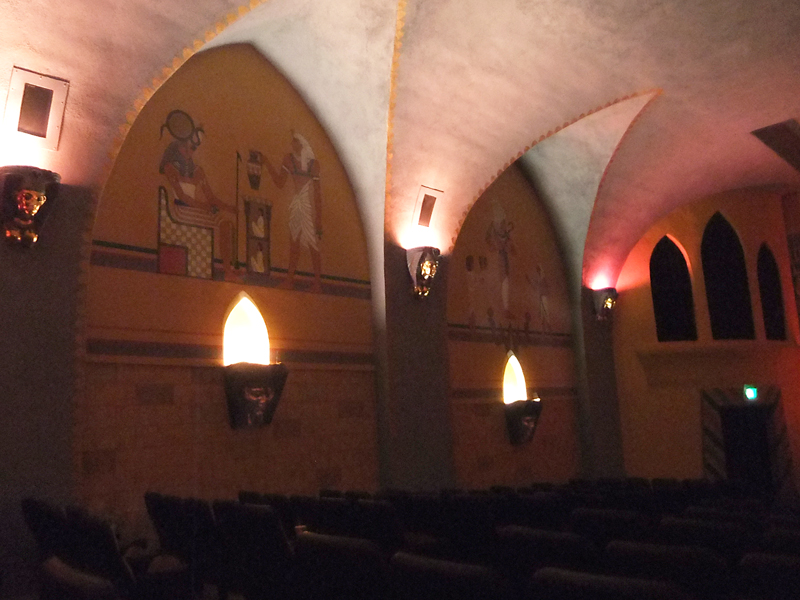 Contractors were able to restore many of the original murals inside the theater.